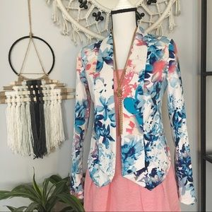 Mossimo watercolor floral lightweight blazer sz. S